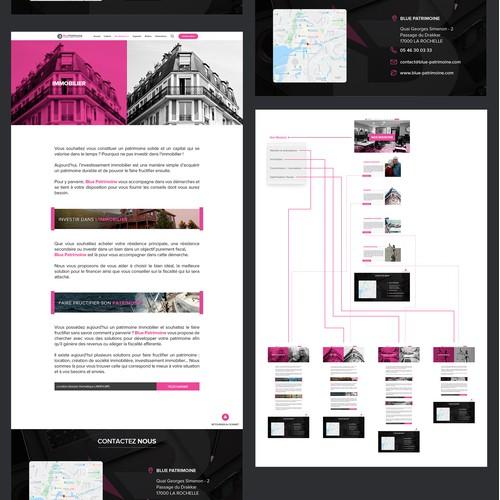 Bleu Patrimoine Full website design
