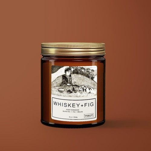 Whiskey + Fig Farm Candle