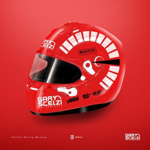 Helmet Racing Mockup