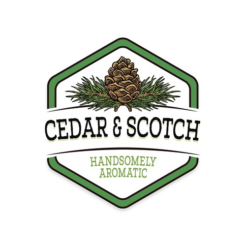 Hand Drawn logo for Cedar & Scotch