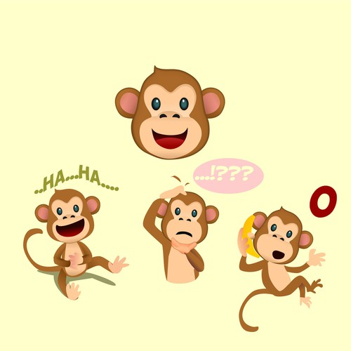 monkey character design