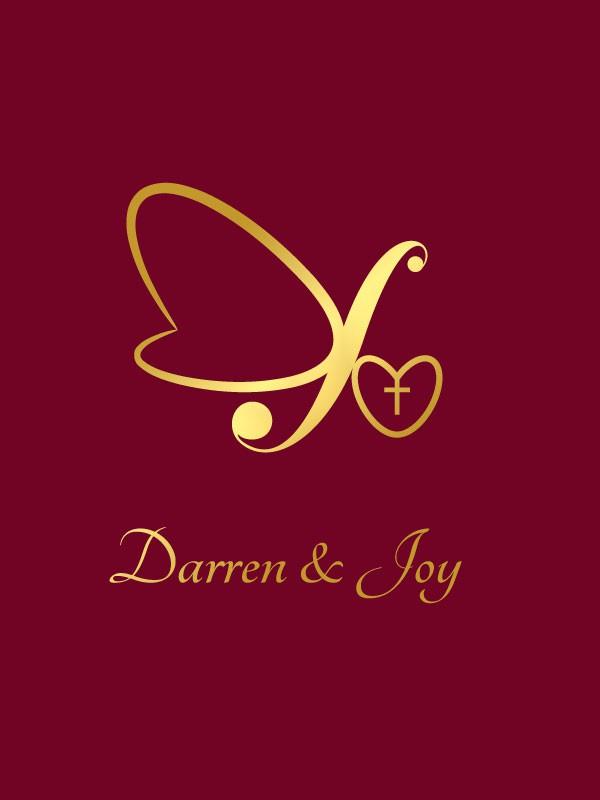 Create the next card or invitation for Darren & Joy