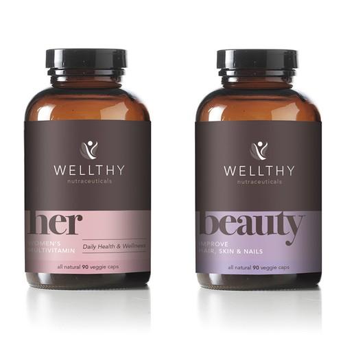 Wealthy label design