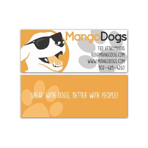 Hip, Funky, Colourful, Dog Training Company Business Card!