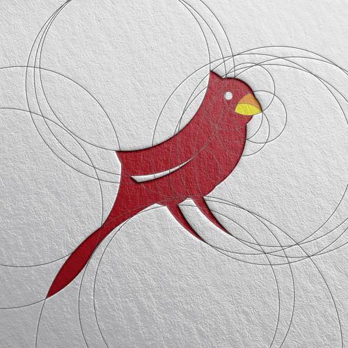 custom bird symbol for realty logo