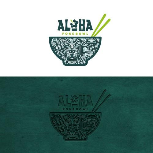 Logo design for Aloha Poke Bowl