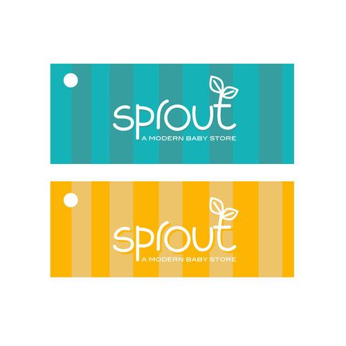 Logo Design for Sprout, a modern baby store