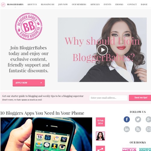 Elegant and Flat Web Design For Blogger Babes