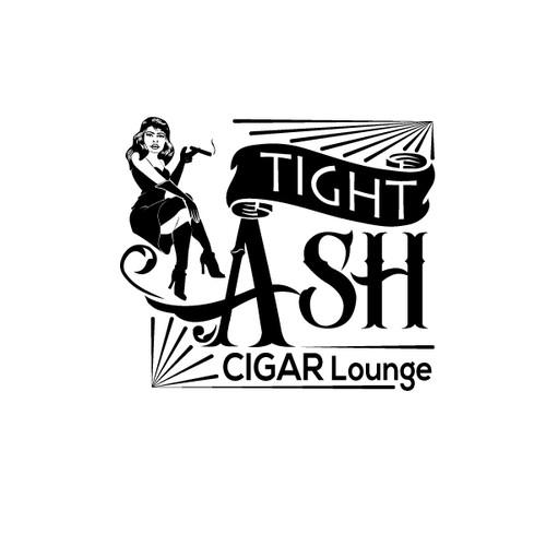Create a classic cigar lounge logo