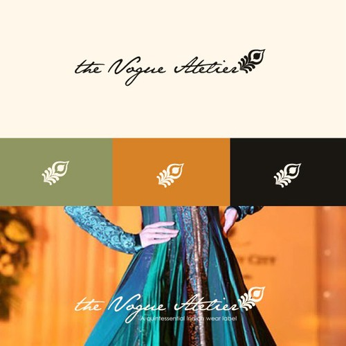 Logo for Luxury & Opulent Indian Wear Label with Intl Appeal