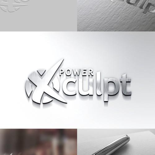 Modern, Cutting Edge  Logo for POWER XCULPT