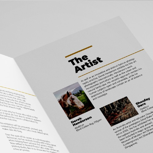 Booklet Layout For Photography Exhibition Opening