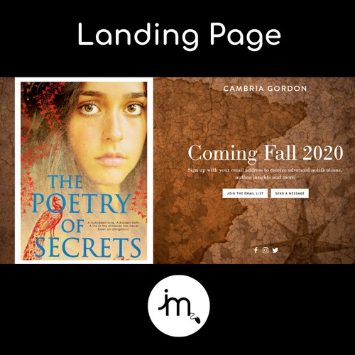 Landing Page for Young Adult Author