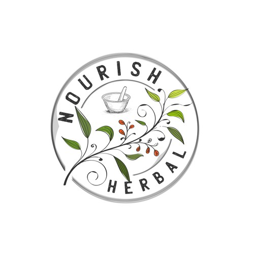 NOURISH looking for a warm, earthy, but clean Logo for an all natural herbal company.