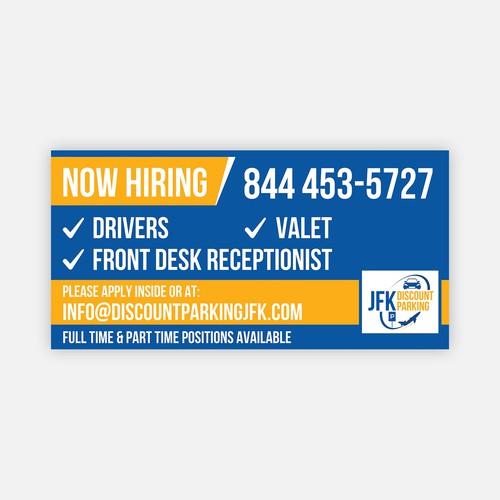 Banner Design for JFK Discount Parking