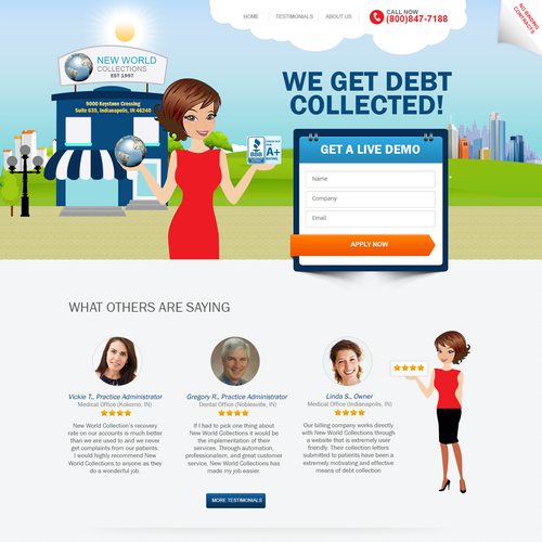 Create a Landing page for Leading US financial firm