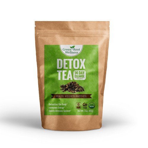 Detox Tea Bag Design