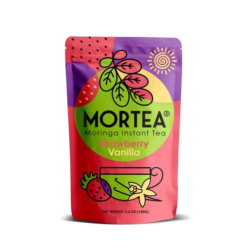 Unique Label Artwork for Moringa Tea that will Pop on the Shelf