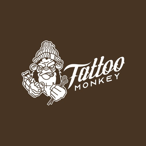 Logo design for Tattoo Monkey shop