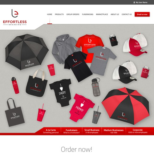 Promotional company new web desing