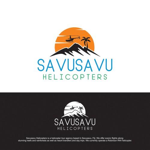 Savusavu Helicopters Logo Design