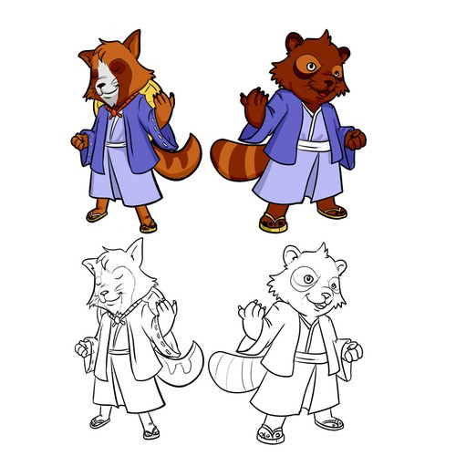 tanukis fighting maskot