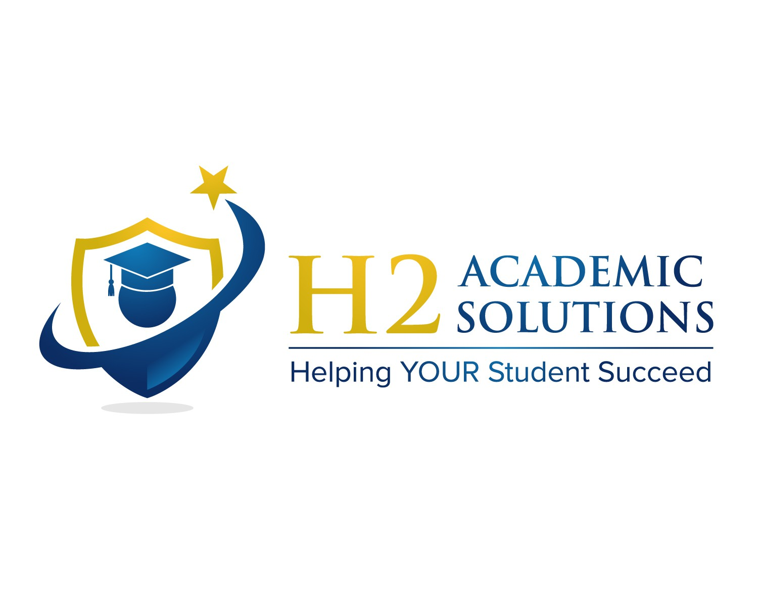Create a informing, inspiring logo for H2 Academic Solutions