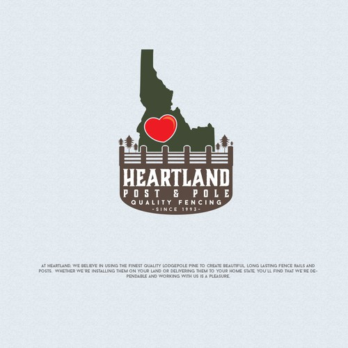 vintage logo concept for Heartland post and pole company