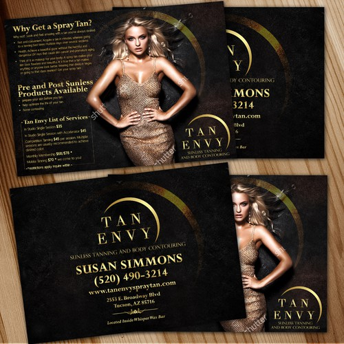 Spray tan studio seeking sexy, eye catching postcard ad