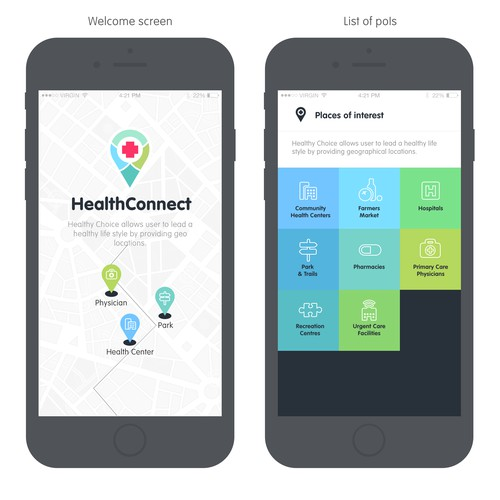 HealthConnect App Design