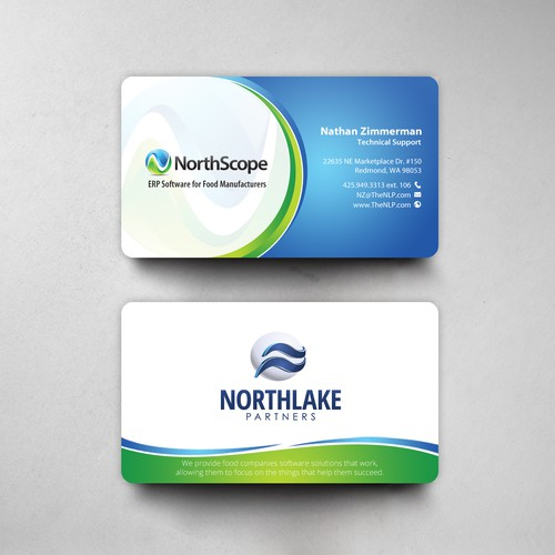 Businesscard concept for north lake