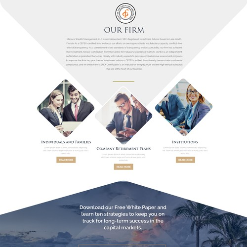 Mariaca Wealth Management Website