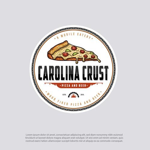 carolina crust logo design