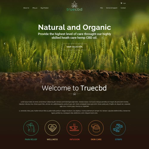 Concept for Truecbd - TrueCBD and Cbd newcomer