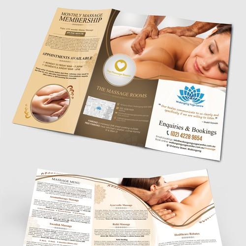 Leaflet for yoga studio