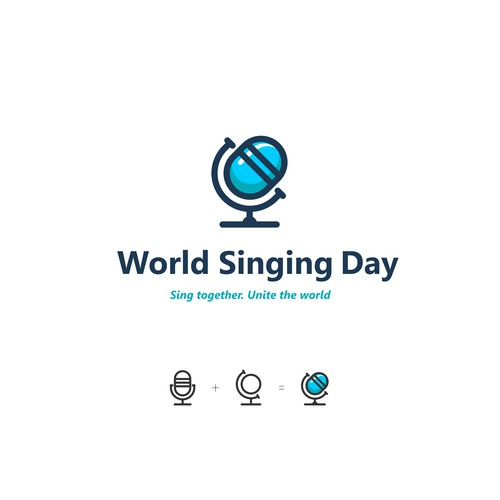 Logo design for World Singing Day