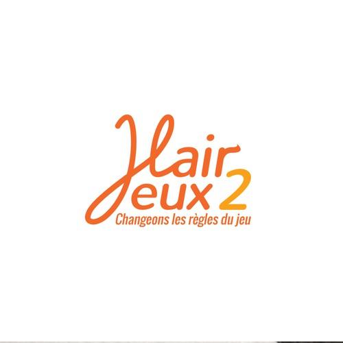 Bold logo concept for hair salon