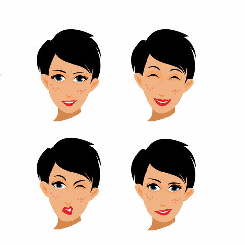 Personality character graphic style.