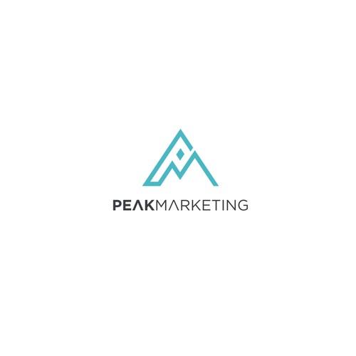 Logo concept for Peak Marketing