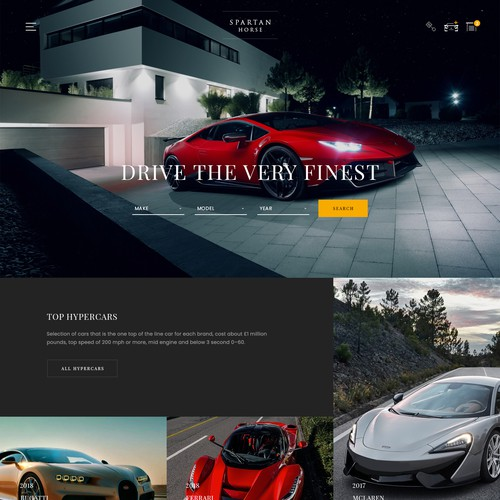 Luxury car sales website