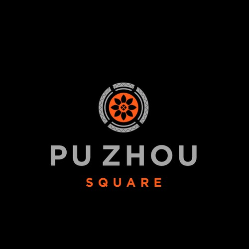 logo and brand identity pack for PU ZHOU PLAZA