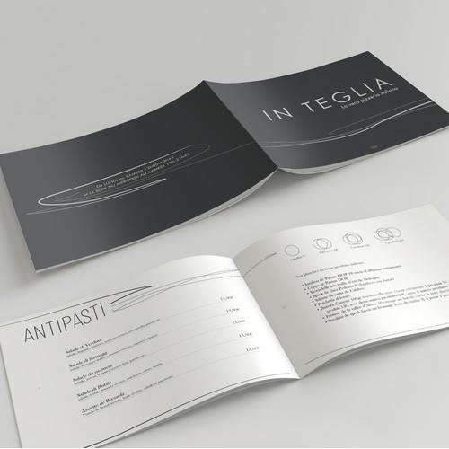 Bold menu design