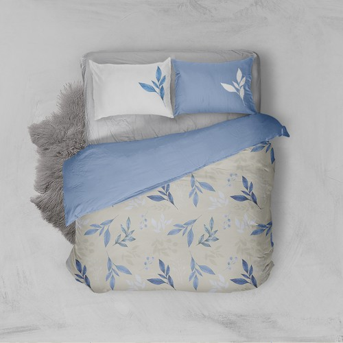 Create a repeat pattern nature-inspired design for high-end duvet covers