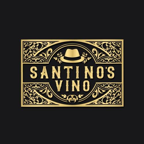 Logo concept for Santino's Vino