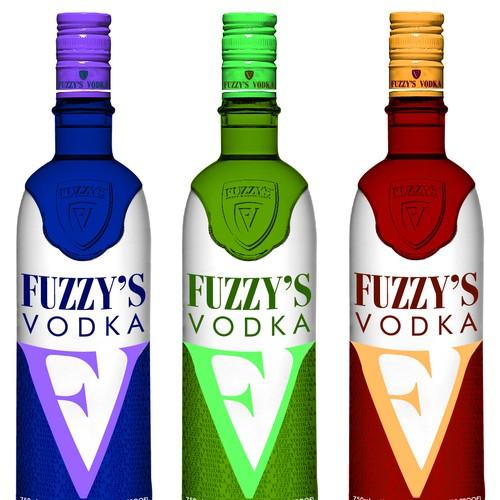 Vodka Bottle and Label.