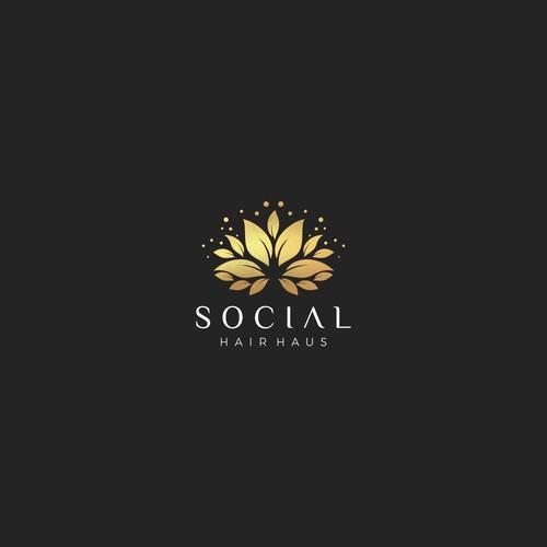 Logo Social Hair Hous