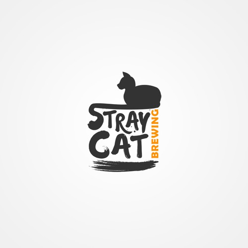 Logo concept for  Stray Cat Brewing Version 2.