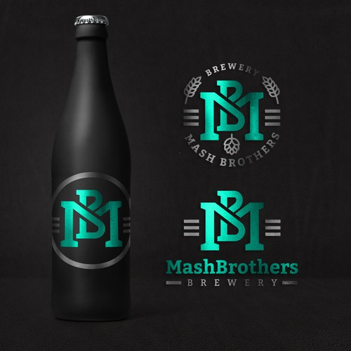 MashBrothers brewery logo design