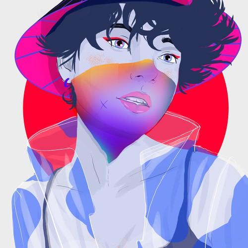 Woman Gen-Z illustration