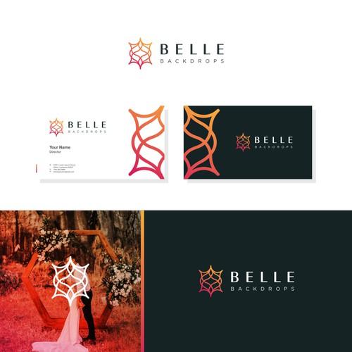 Romantic, Sophisticated logo for Belle Backdrops